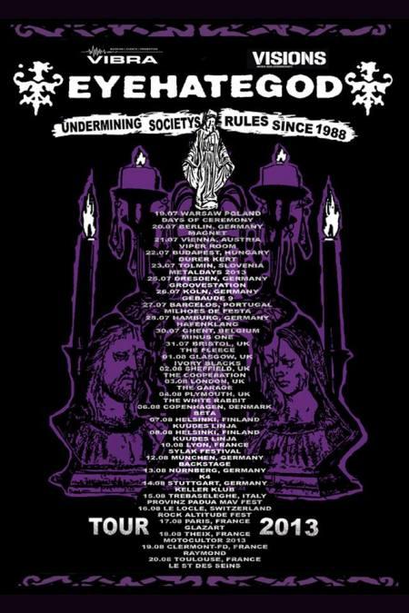 Eyehategod - promo flyer - Europe Tour - 2013