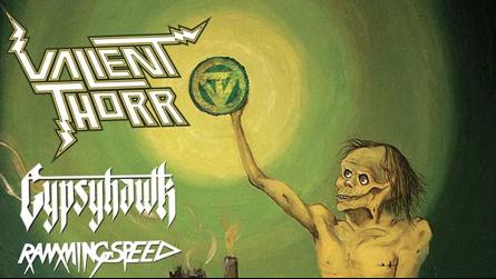 Gypsyhawk - Valient Thorr - 2013 - tour flyer promo