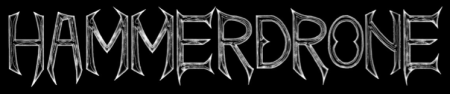 Hammerdrone - Band Logo - Large - B&W