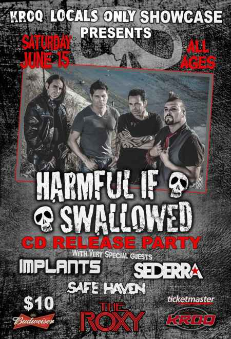 Harmful If Swallowed - CD Release Party - promo flyer - 2013