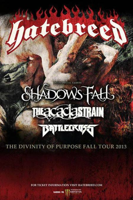 Hatebreed - Tour Promo Flyer - Fall - 2013