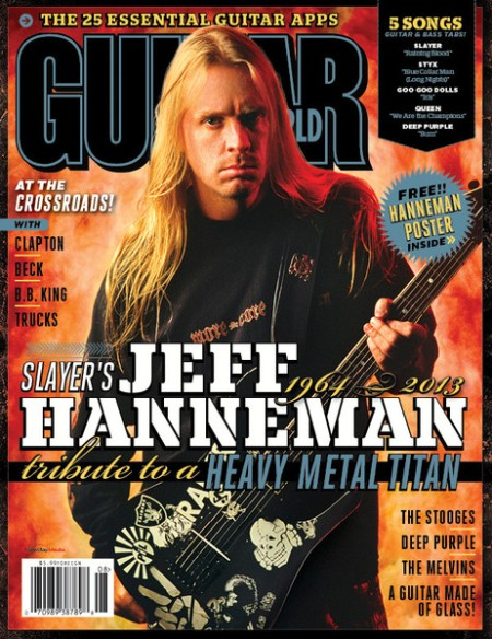 Jeff Hanneman - Guitar World - promo cover - August - 2013
