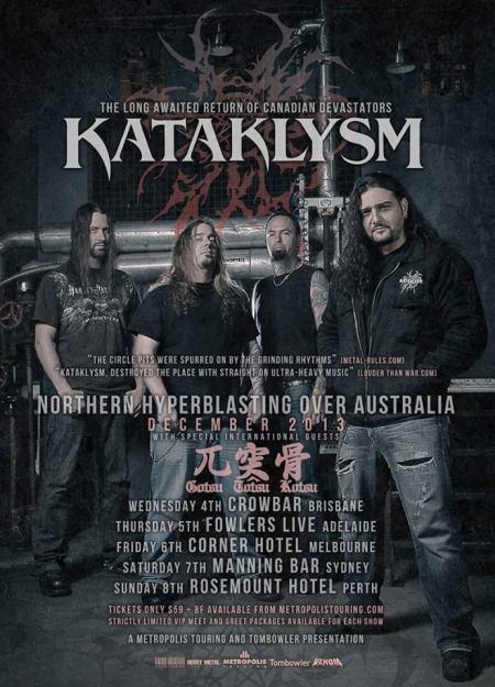 Kataklysm - Australia - 2013 - tour promo flyer