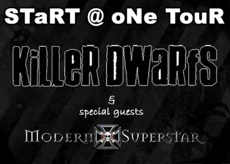 Killer Dwarfs - Modern Superstar - Tour - flyer promo - 2013