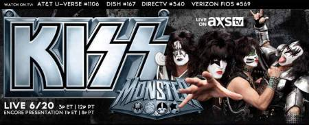 Kiss - live on axs tv - promo banner - 2013