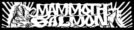 Mammoth Salmon - large band logo - B&W