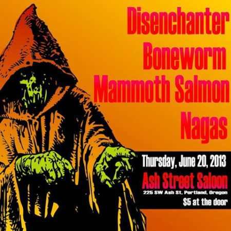 Mammoth Salmon - promo concert flyer - Portland, Oregon - 2013