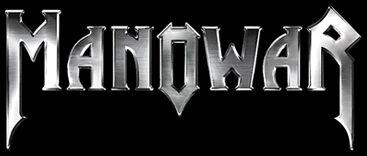 Manowar - band classic logo - silver - black