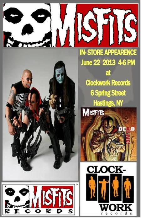 Misfits - clock work records - June - 2013 - flyer