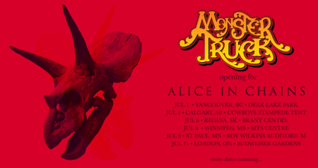 Monster Truck - Alice In Chains - Tour - 2013 - promo flyer