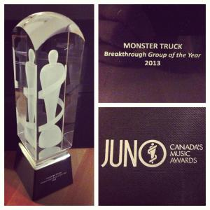 Monster Truck - Juno Award - 2013