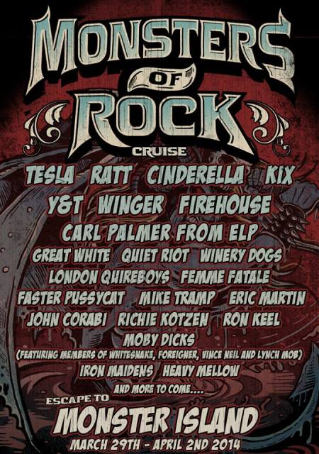 Monsters Of Rock Cruise - 2014 - promo flyer - large