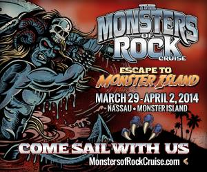 Monsters Of Rock Cruise - 2014 - promo flyer