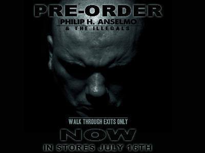 Philip H. Anselmo & The Illegals - promo album flyer