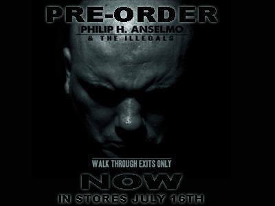 Philip H. Anselmo & The Illegals - promo album flyer
