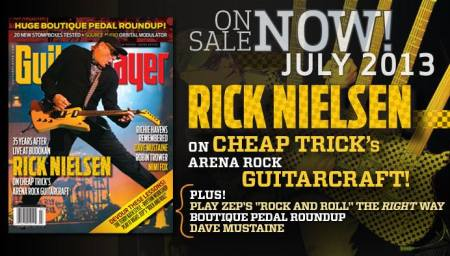 Rick Nielsen - Cheap Trick - Guitar Player - cover promo banner - 2013