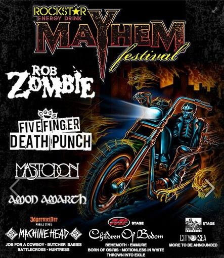 Rockstar Energy Drink Mayhem Festival - 2013 - promo flyer