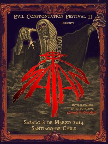 Satan - Evil Confrontation Festival II - promo flyer - 2013