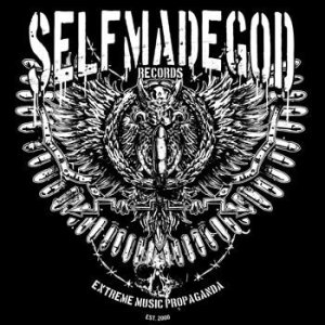 Selfmadegod records - large logo - B&W