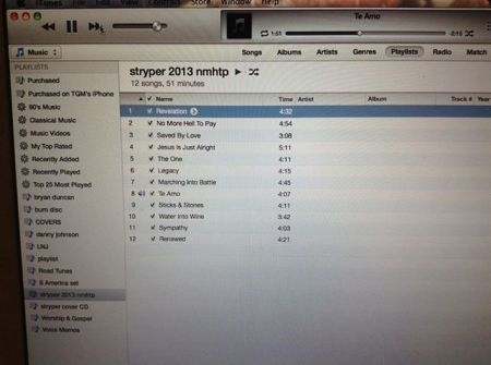 Stryper - track listing - No More Hell To Pay - 2013