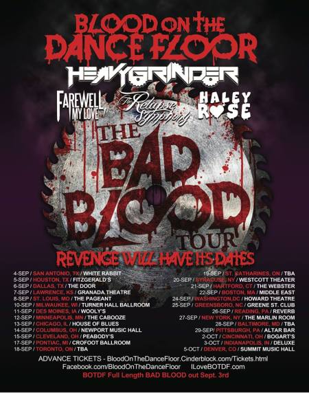 The Bad Blood Tour - 2013 - promo flyer