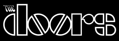 The Doors - Classic Band Logo - B&W