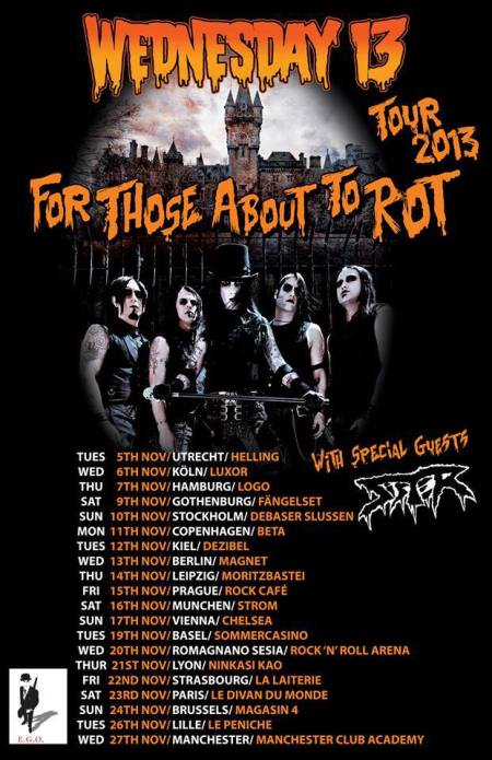 Wednesday 13 - Tour 2013 - promo flyer - #1