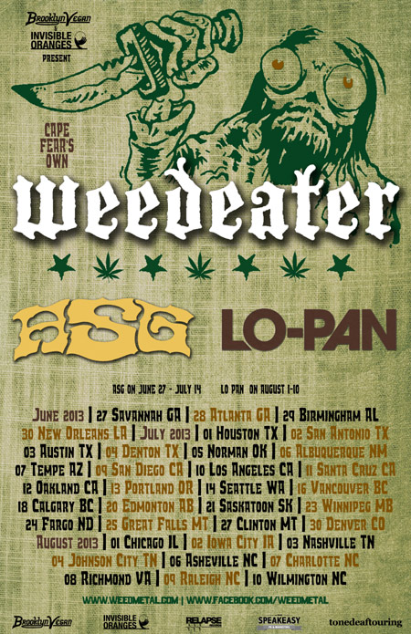 Weedeater - ASG - Tour - 2013 - promo flyer - Summer