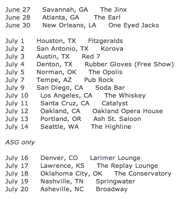 Weedeater - ASG - tour dates - 2013 - Summer
