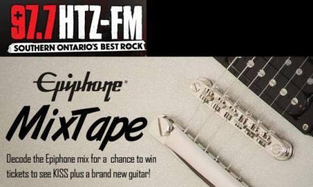 97.7 HTZ - FM - tommy thayer epiphone guitar contest - 2013 - promo