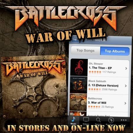 Battlecross - War Of Will - promo flyer - 2013 - #1