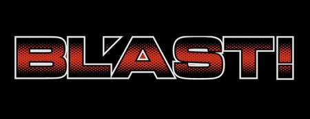 BL'AST! - Large Band Logo - red:black:white