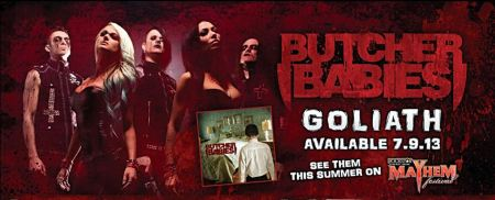 Butcher Babies - Goliath - Promo Banner pic - 2013