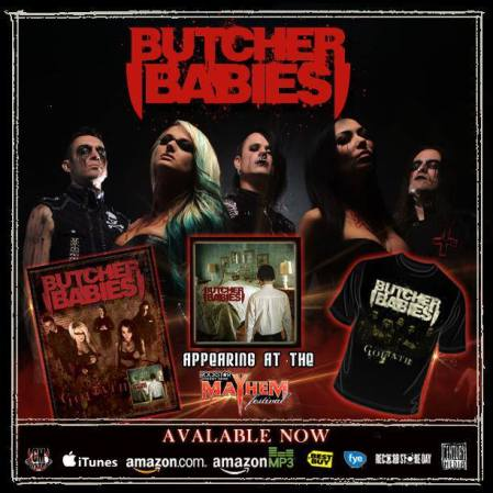Butcher Babies - promo flyer - Goliath - 2013