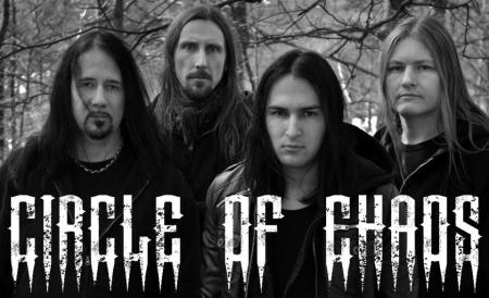 Circle Of Chaos - band promo pic - B&W - 2013 - #2