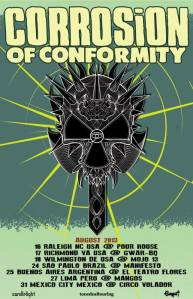 Corrosion Of Conformity - Tour Flyer - August - 2013