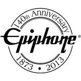 Epiphone - classic logo - 140th anniversary logo - promo - B&W