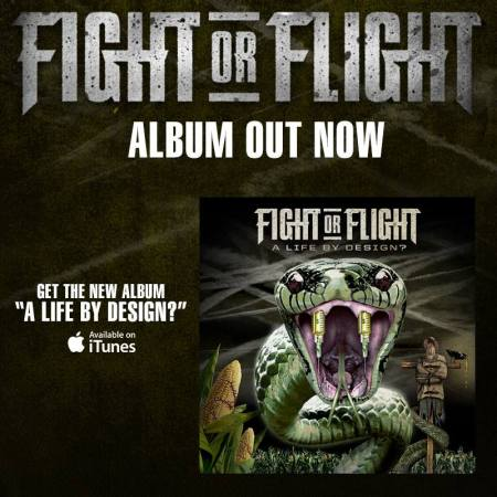 Fight Or Flight - promo flyer - 2013 - debut album