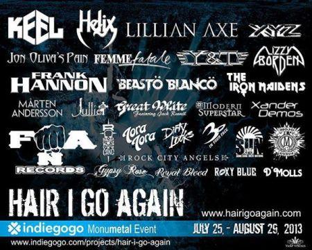 Hair I Go Again - Indiegogo - MonuMetal Event - indiegogo - 2013
