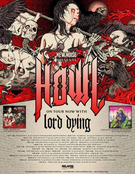 Howl - Tour Promo Flyer - Summer - 2013