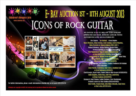 Icons Of Rock Guitar - Ebay Auction - August - 2013 - promo flyer
