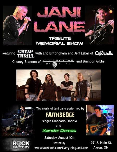 Jani Lane - Memorial Show - promo flyer - 2013