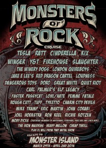 Monsters Of Rock Cruise - 2014 - promo flyer - #2