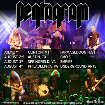 Pentagram - Live Tour Dates - promo flyer - 2013