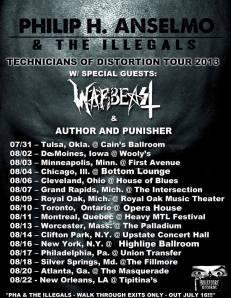 Philip H. Anselmo & The Illegals - tour promo flyer - Summer 2013