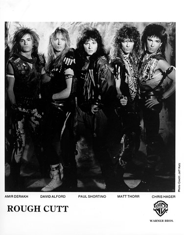 Rough Cutt - 1980's - Promo Band Card - B&W