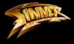 Sinner - Classic Band Logo - Gold & Black