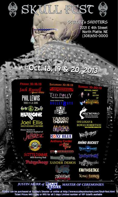 Skull Fest - promo flyer - nebraska - 2013 - Oct
