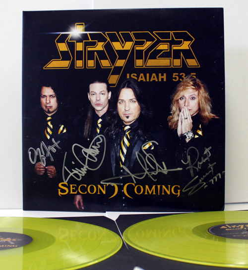 Stryper Autographed Second Coming Double Yellow Vinyl