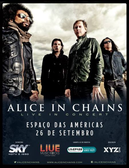 Alice In Chains - Brazil Headline show - Sept. 26 - 2013 - promo flyer